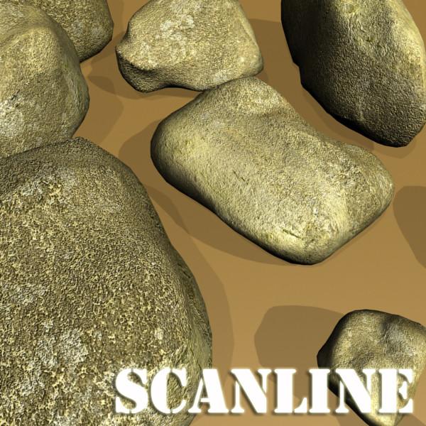 stones 02 high resolution textures 3d model 3ds max fbx obj 131965