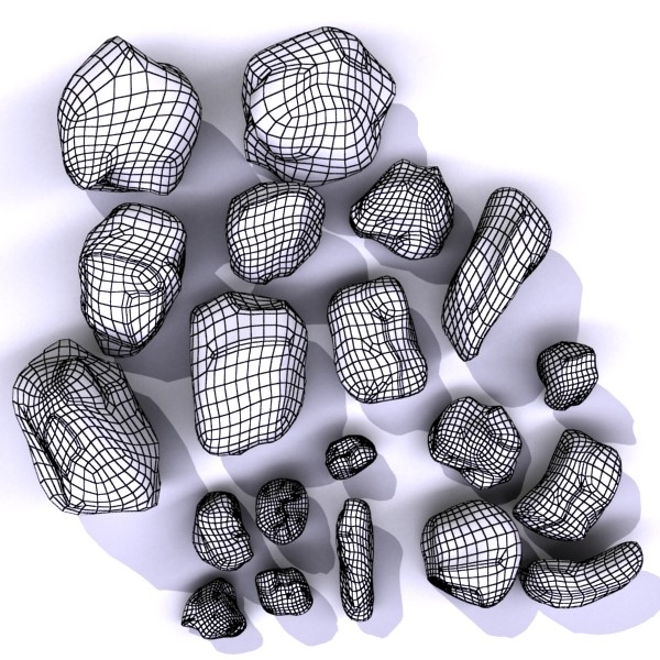 stones 02 high resolution textures 3d model 3ds max fbx obj 131966