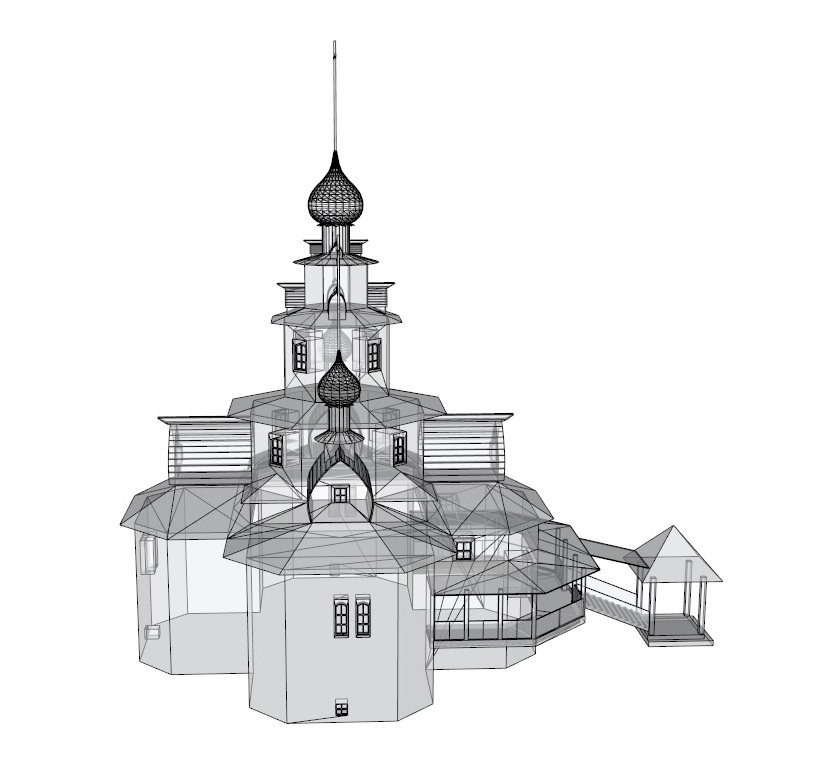 temple 3d model 3ds dxf dwg skp obj 163690