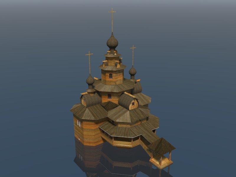 Temple 3d model 3ds dxf dwg  obj 163686