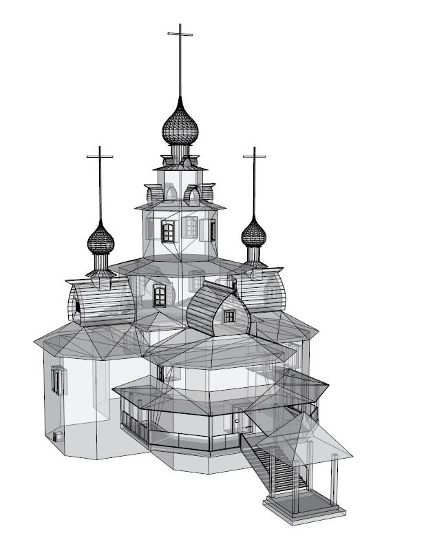Temple 3d model 3ds dxf dwg  obj 163689