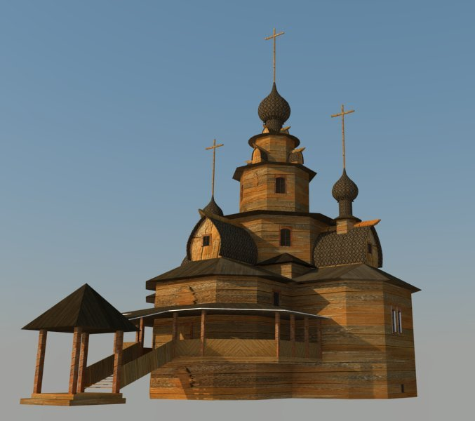 Temple 3d model 3ds dxf dwg  obj 163685