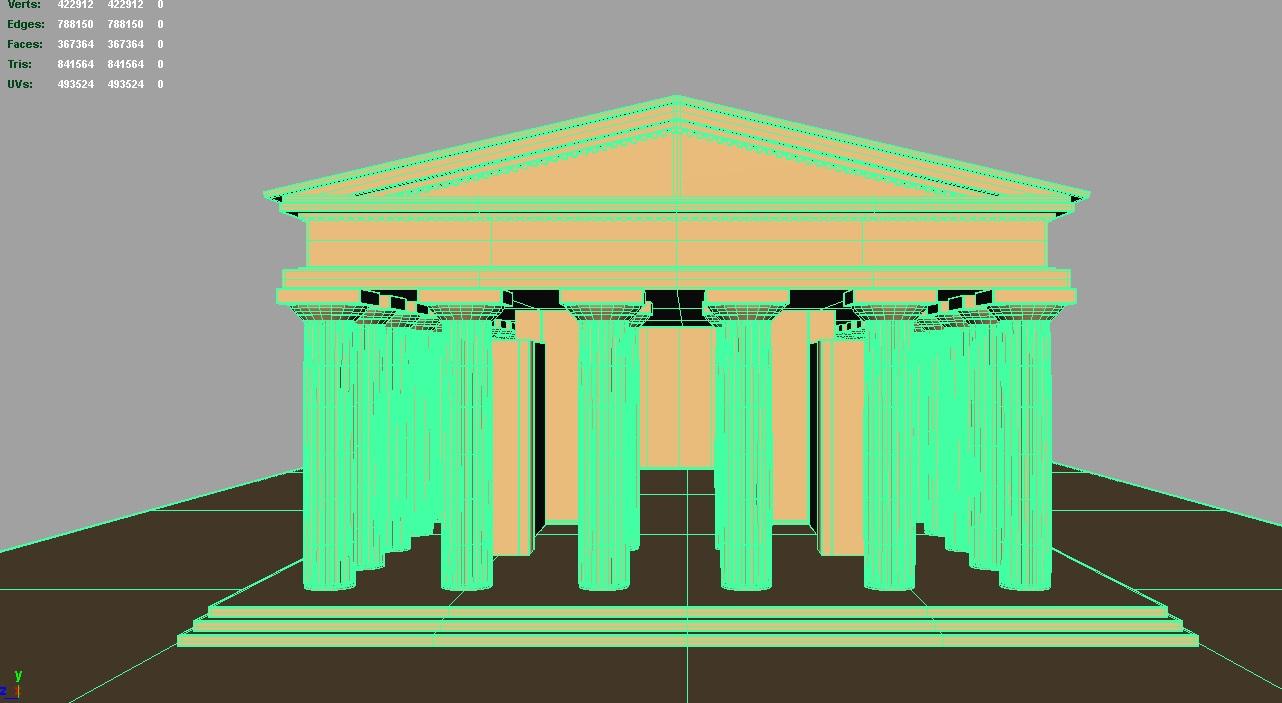 apollo temploma 3d modell 3ds fbx c4d lwo ma mb hrc xsi objektum 119423