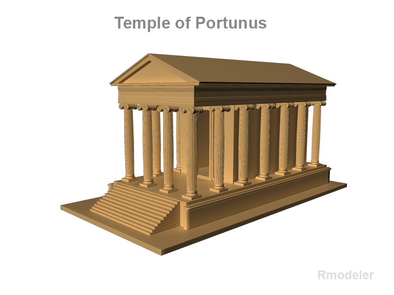 temple of portunus 3d model 3ds fbx c4d lwo ma mb obj 124763