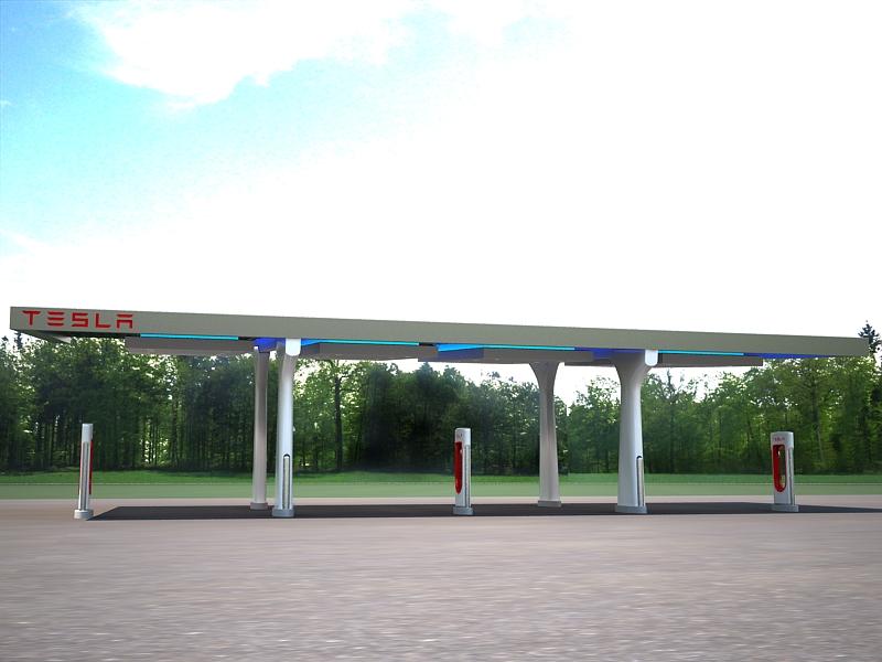 tesla charging station 3d model max 164920