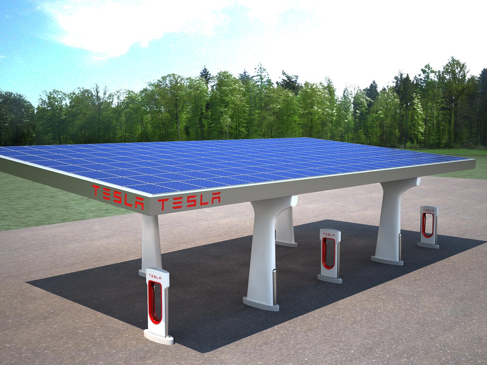 Tesla Charging Station 3d Model Architecture 3d Models Charging  # Tefla Muebles Sl