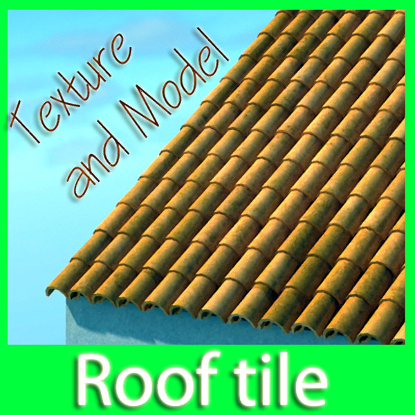 tile roof dirty & clean textures 3d model max obj 129368
