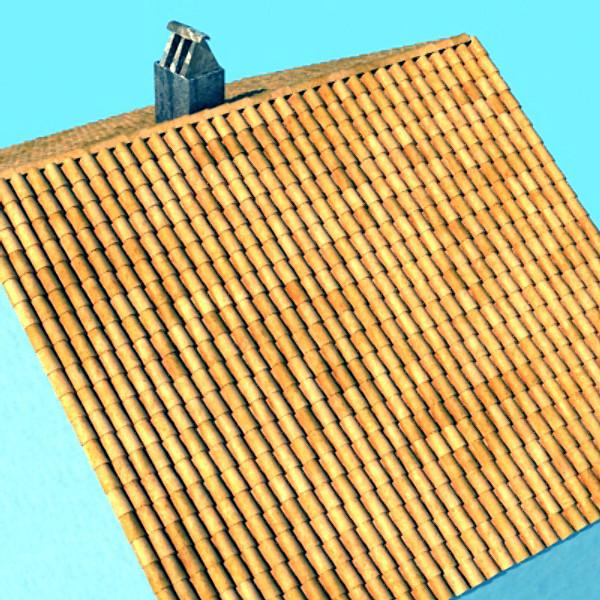 crijep krov prljav i čist tekstura 3d model max obj 129370