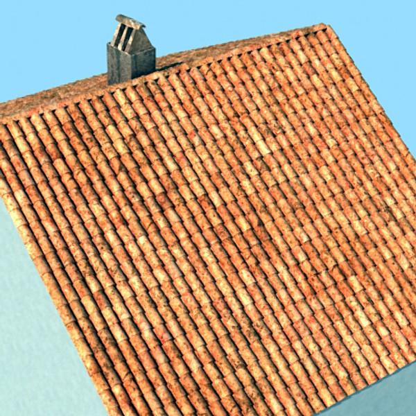 crijep krov prljav i čist tekstura 3d model max obj 129374
