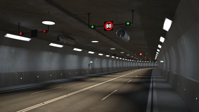 tileable road tunnel 3d model 3ds max fbx obj 160865