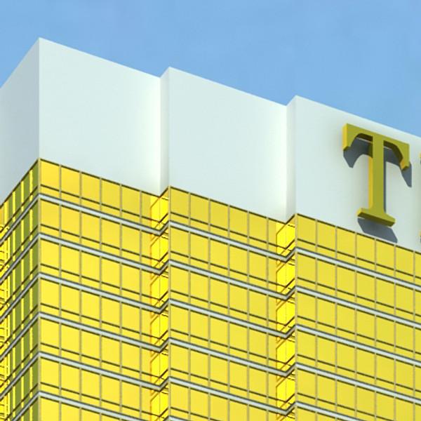 trump international hotel high detail 3d model max fbx obj 130091