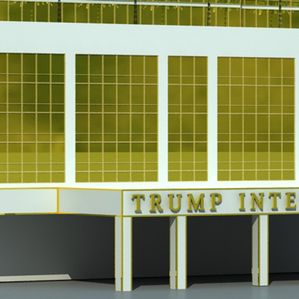 trump international hotel high detail 3d model max fbx obj 130112