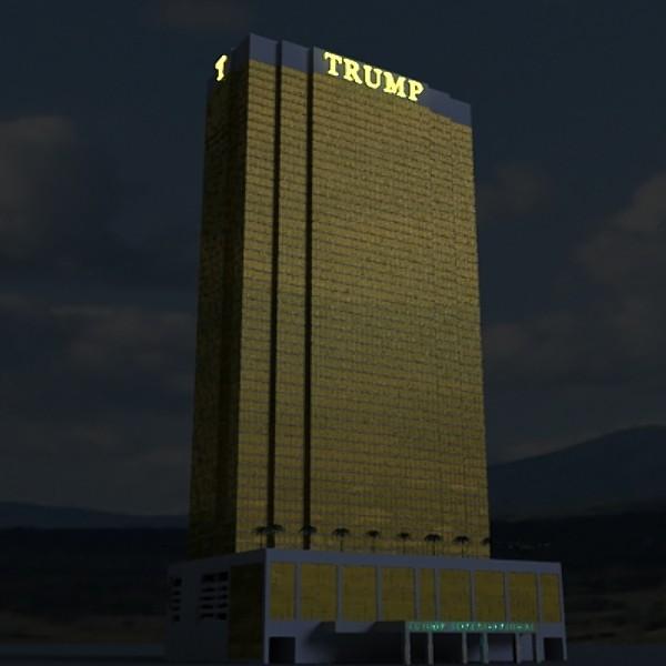 trump international hotel high detail 3d model max fbx obj 130117