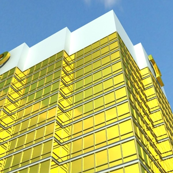trump international hotel high detail 3d model max fbx obj 130118