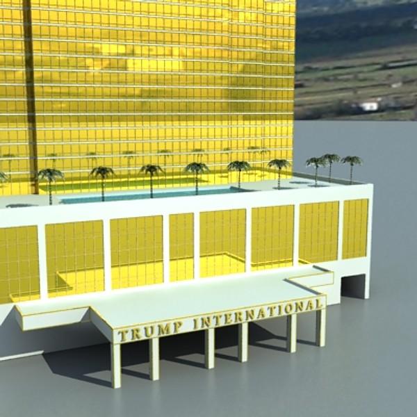 trump international hotel high detail 3d model max fbx obj 130119