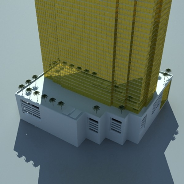trump international hotel high detail 3d model max fbx obj 130120