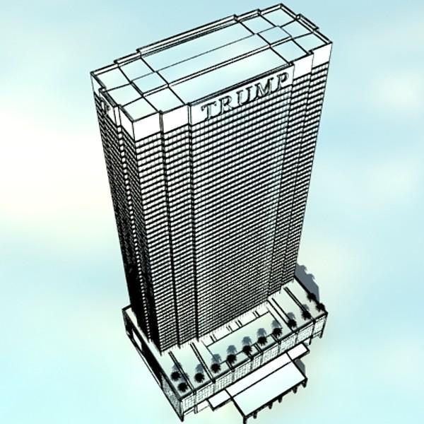 trump international hotel high detail 3d model max fbx obj 130122