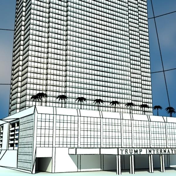 trump international hotel high detail 3d model max fbx obj 130123