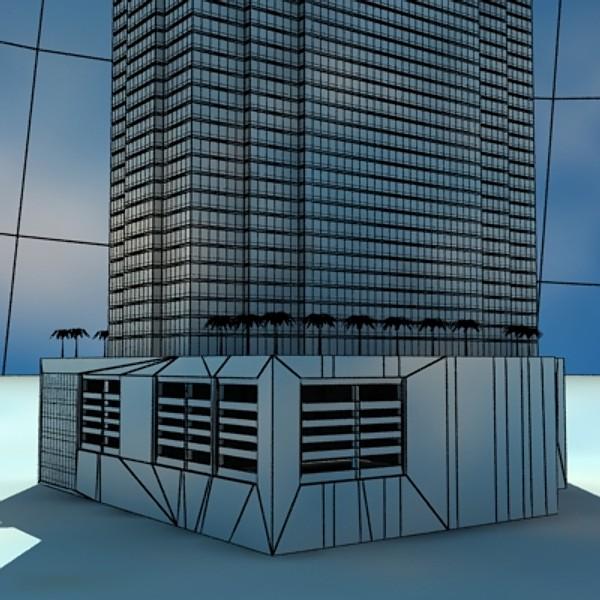 trump international hotel high detail 3d model max fbx obj 130124