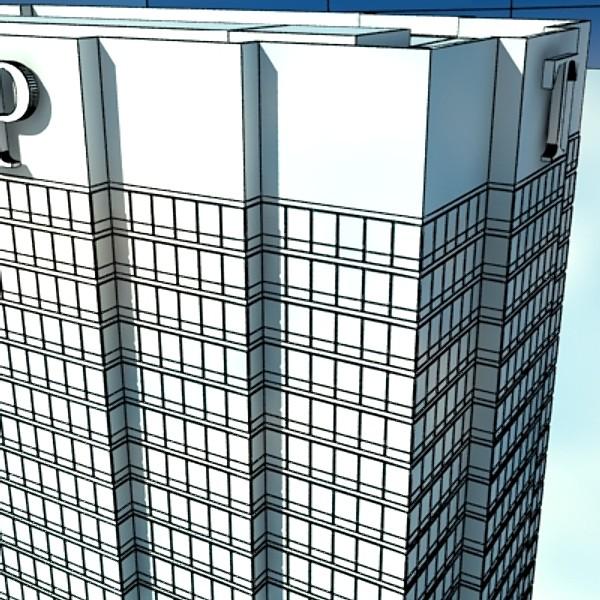 trump international hotel high detail 3d model max fbx obj 130125