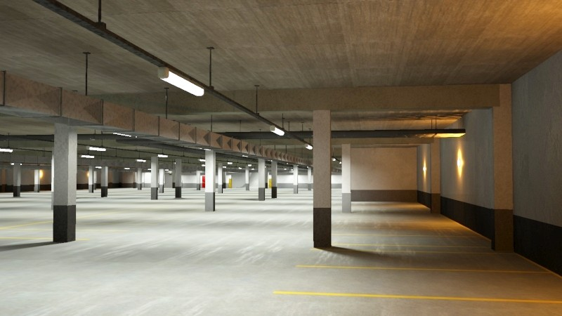 underground parking garage 02 3d model 3ds max fbx obj 164290
