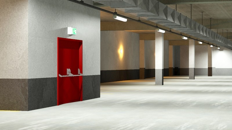 underground parking garage 02 3d model 3ds max fbx obj 164293