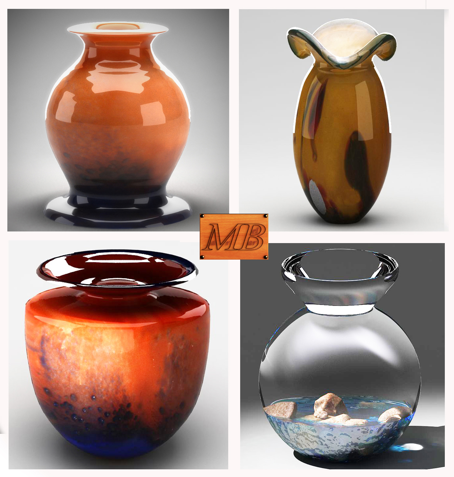 Vases collection 01 3d model max 163394