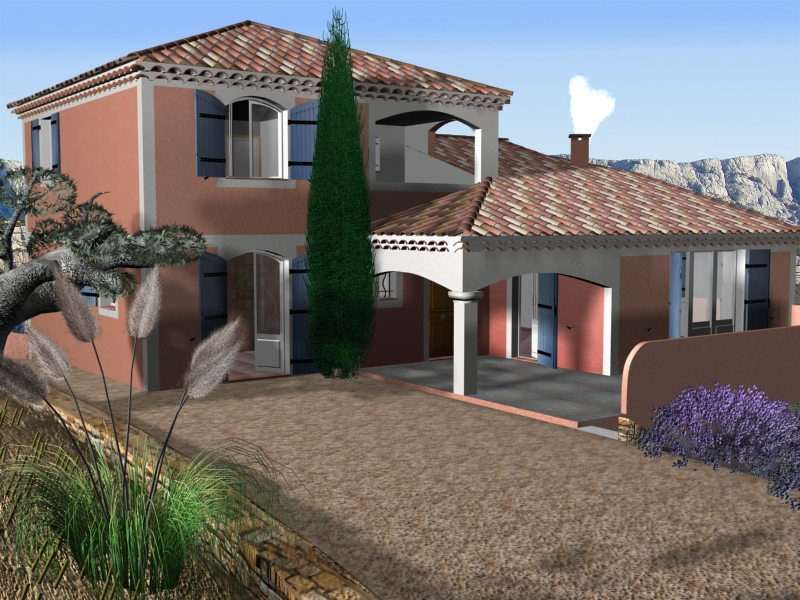 villa from south of france 3d model max 148138