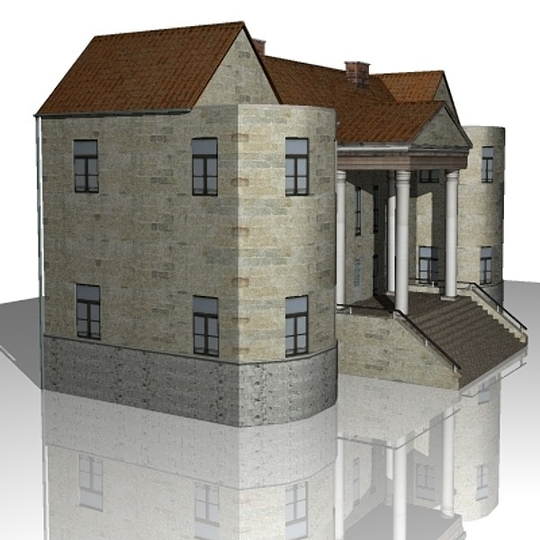 villa house building 3d model 3ds 129126