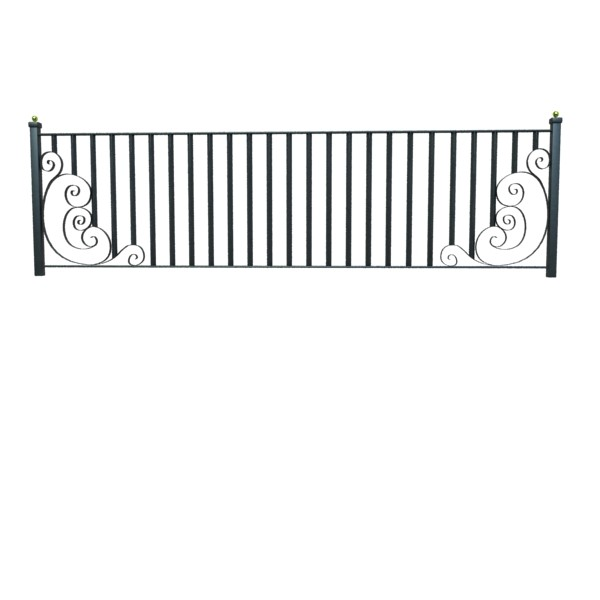 wrought iron fence 01 high res 3d model 3ds max fbx obj 131897