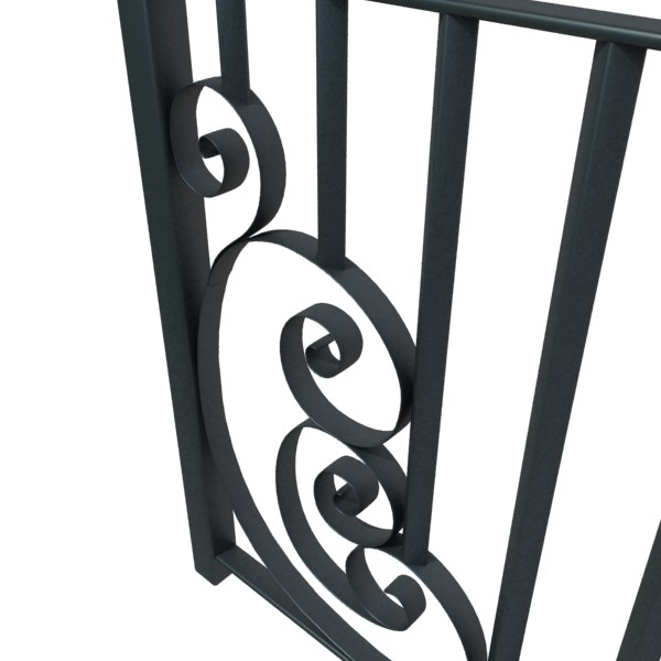 wrought iron fence 01 high res 3d model 3ds max fbx obj 131899