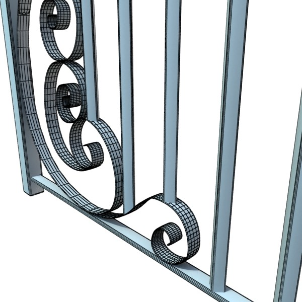 wrought iron fence 01 high res 3d model 3ds max fbx obj 131901