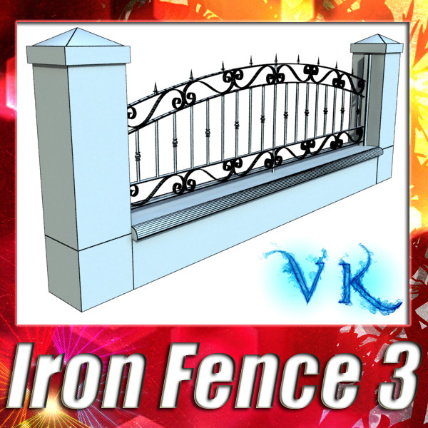 wrought iron fence 03 high res 3d modelo 3ds max fbx obj 131919