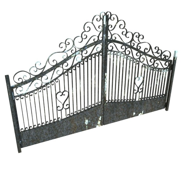wrought iron gate 01 3d model 3ds max fbx obj 131934