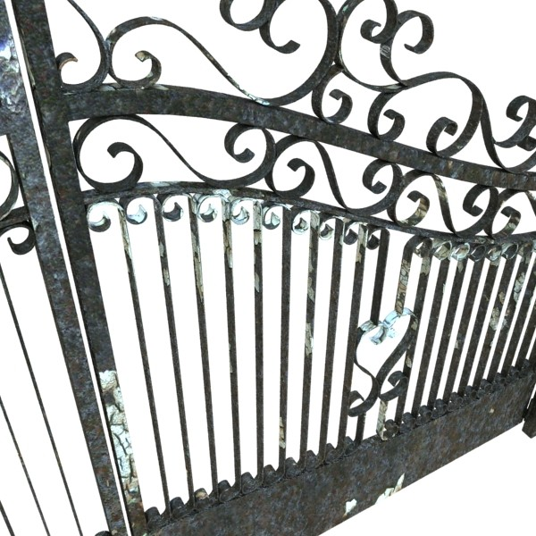 wrought iron gate 01 3d model 3ds max fbx obj 131935