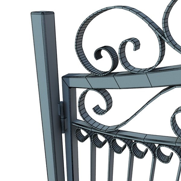 wrought iron gate 01 3d model 3ds max fbx obj 131937