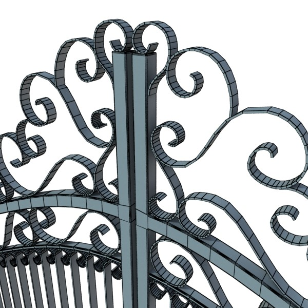 wrought iron gate 01 3d model 3ds max fbx obj 131938