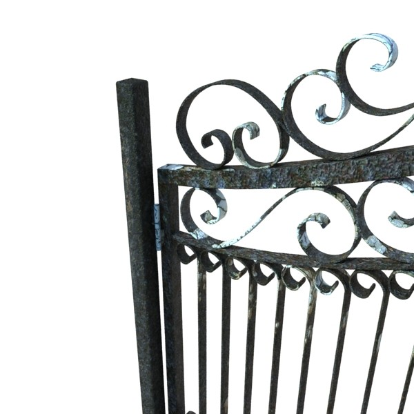 wrought iron gate 01 3d model 3ds max fbx obj 131939