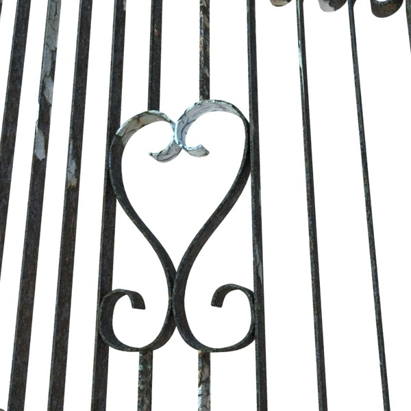 wrought iron gate 01 3d model 3ds max fbx obj 131940