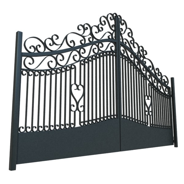 wrought iron gate 01 3d model 3ds max fbx obj 131942