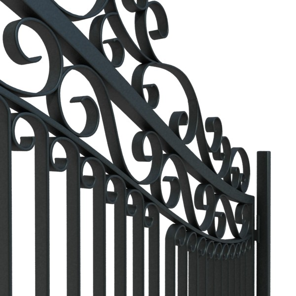 wrought iron gate 01 3d model 3ds max fbx obj 131943