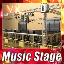 3D Model Stage Equipment Mega Pack High Detail ( 158.28KB jpg by VKModels )