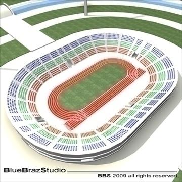 athletic stadium 3d model 3ds dxf c4d obj 95846