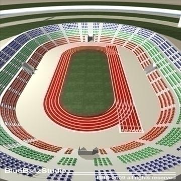 athletic stadium 3d model 3ds dxf c4d obj 95847
