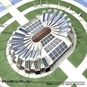 athletic stadium 3d model 3ds dxf c4d obj 95849