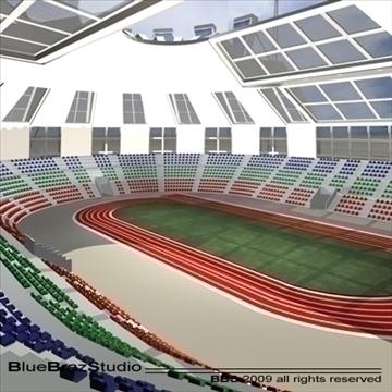 athletic stadium 3d model 3ds dxf c4d obj 95850