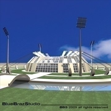 athletic stadium 3d model 3ds dxf c4d obj 95851