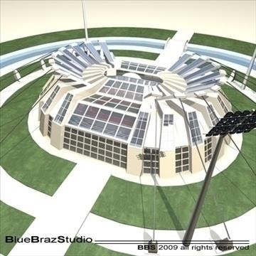 athletic stadium 3d model 3ds dxf c4d obj 95852