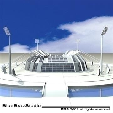 athletic stadium 3d model 3ds dxf c4d obj 95853