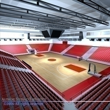 basketbal arena 3 3d model 3ds dxf c4d obj 82312